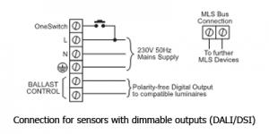 Ex-Or MLS DALI Sensor Connection